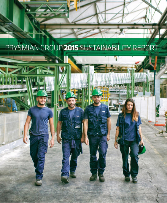 2015 Sustainability report